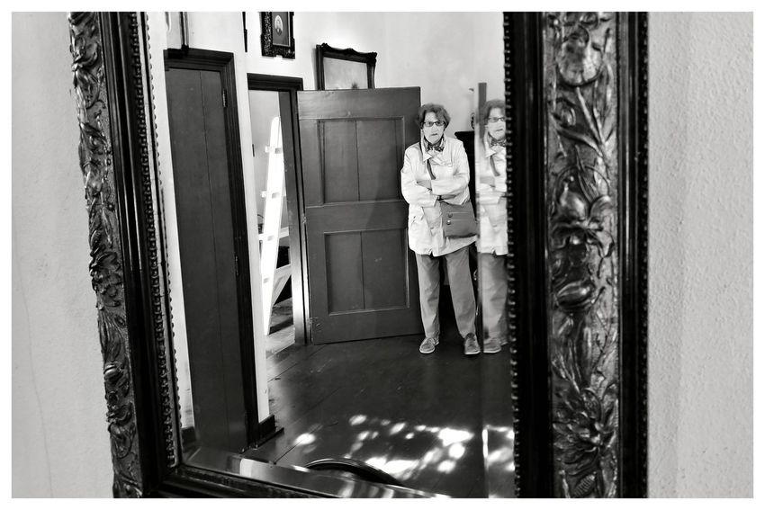 Reflection Antique Netherlands Blackandwhite Blackandwhite Photography Blackandwhitephotography Blackandwhitephoto Black And White Black And White Photography EyeEm Best Shots - Black + White Streetphotography_bw Streetphoto Streetphotography People Standing Architecture Building Exterior Built Structure Mirror