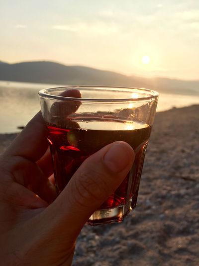Beautiful Day Relaxing Quality Time Lake Evening Sun