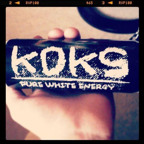 Hahahaha Koks Energydrink Xmaspresent Joke energy pure black white haha ilikeit drink lallala instainsta instaby byby night lala