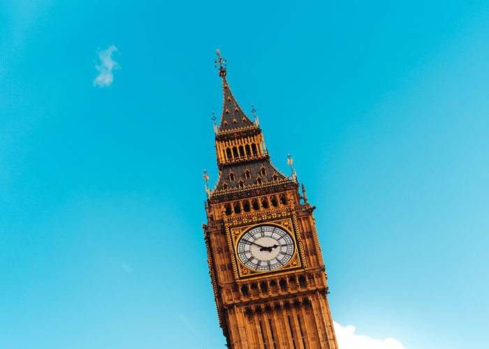 BIG BEN MINIMALISTIC London Minimalist Architecture Palace Of Westminster Architecture Bigben Blue Building Exterior Built Structure City Clear Sky Clock Clock Face Clock Tower Copy Space Day England Low Angle View Minimalism No People Outdoors Sky Time Tower Travel Destinations Uk