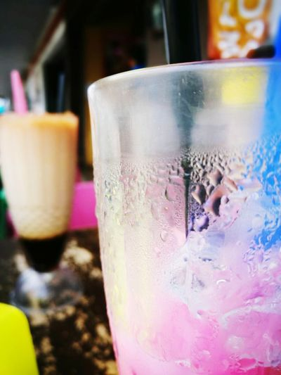 Drink...bandung water mix lychee. Drinking Glass Drink Cold Drink Lychee Bandung Pink Twoglass