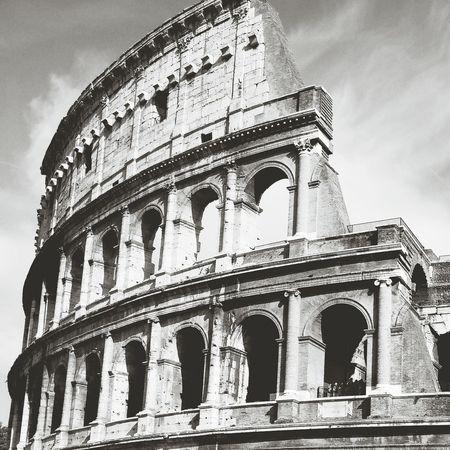Roman Colosseum In Rome Geometric Shapes