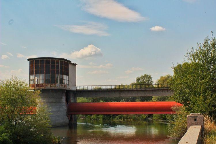 Bridge - Man Made Structure Water River Sky Engineering интересни места в България Plovdiv, Bulgaria Maritza ;)