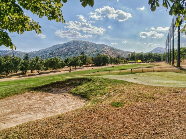 The Color Of Sport Golf Course Golf Tranquil Scene Mountain Landscape Tranquility Tree Grass Mountain Range Non-urban Scene Sky Beauty In Nature Growth Tourism Nature Blue Sweet Market Leica HD HuaweiP9 Spain♥ No People That's Me