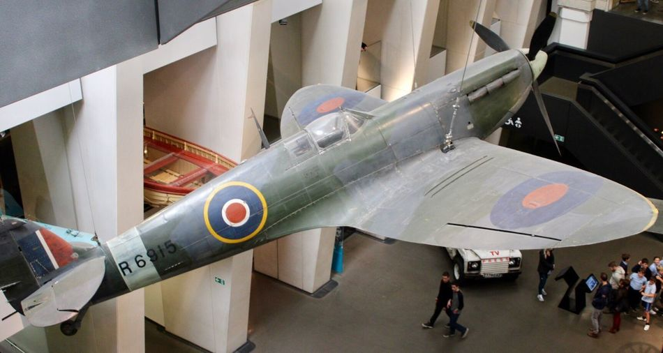 Super marine Spitfire Airplane Air Vehicle Military Mode Of Transportation Fighter Plane Air Force