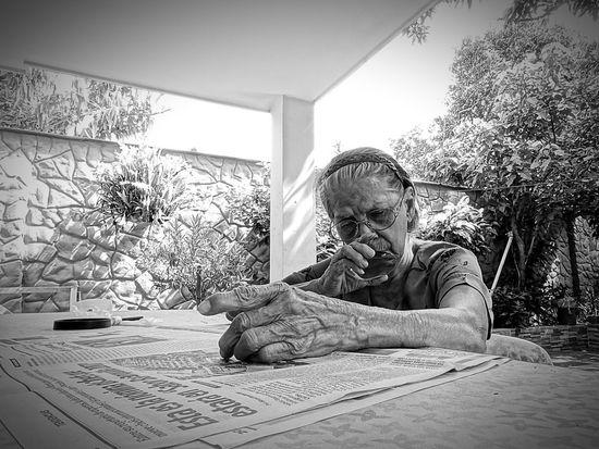 Senior Adult Real People One Person Senior Women Indoors  Day Eyeglasses  Adult People Adults Only Ilovemygrandma Reeding A Newspaper EyeEm MMartenco