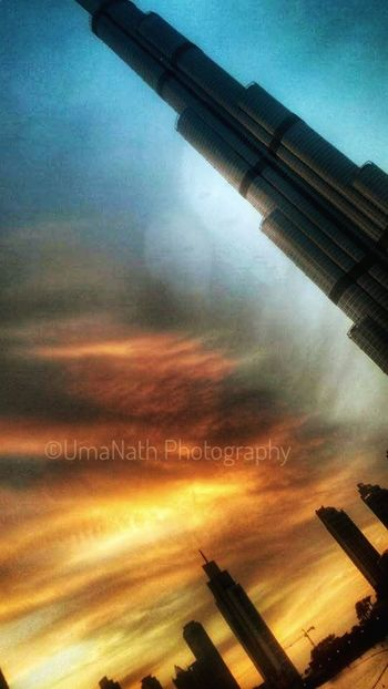 Burj Khalifa World Tallest building Evening Sunset Architecture Built Structure No People Outdoors Sky Sunset City Mobility In Mega Cities Colour Your Horizn