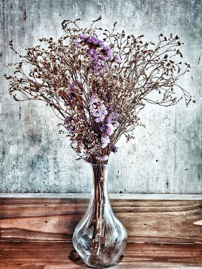 Close-up of flowering plant in vase on table