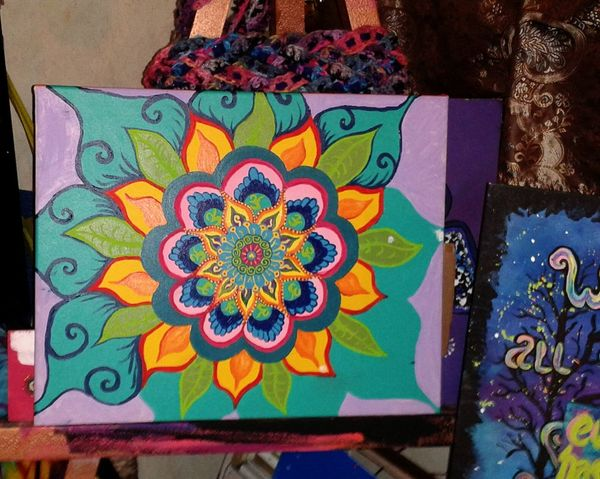 Cover My World In Paint Gypsy Girl Doghairstudio Not Finished Yet... Mandala Art Is Life