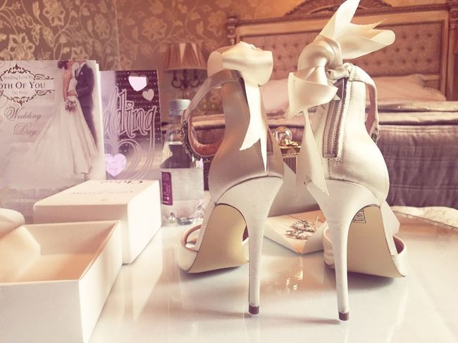 The start of something wonderful! Hello World ShoePorn Wedding Day Weddingsession Weddingshoes Weddingdesign Ipnoneography Feminine  Bridal Things I Like