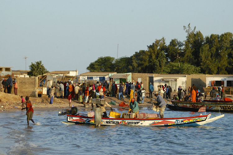 Palmarin Senegal Palmarin West Africa Africa Boat Building Exterior Day Large Group Of People Outdoors People Real People Senegal Transportation Vacations Water Waterfront