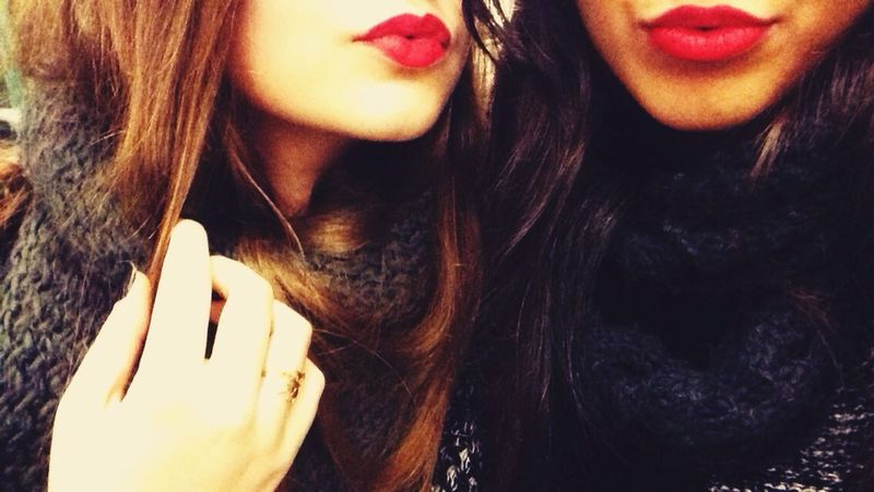 Check This Out Kiss Lips Lipstick Selfie Hot That's Me Enjoying Life