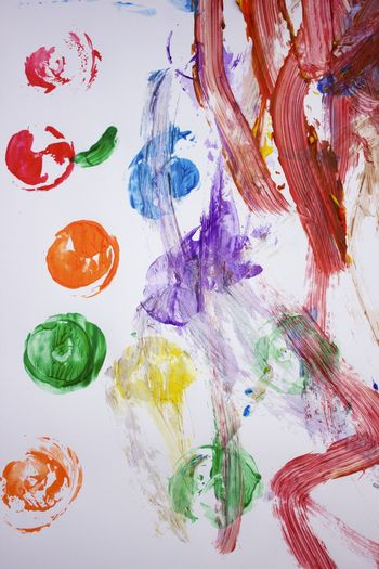 toddler painting party Art And Craft Close-up Creativity Decoration High Angle View Multi Colored No People Painting Table White Background Art Is Everywhere