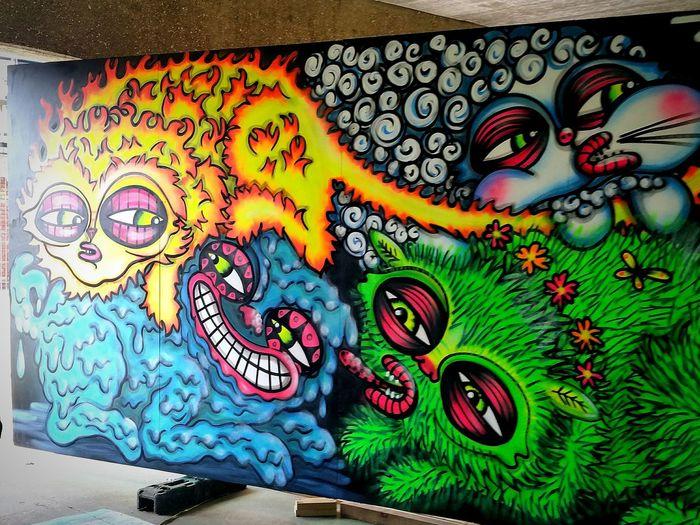 Grimsby graffiti Graffiti Art Creativity Art And Craft Multi Colored Outdoors Day Concrete