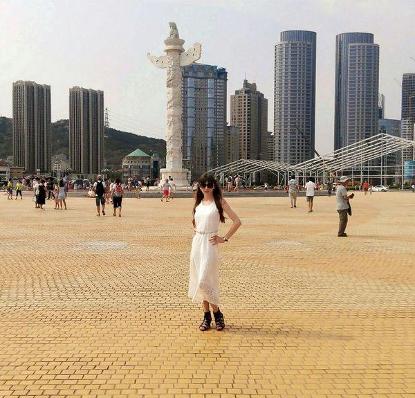 Travelling ASIA Dalian City China Xinghai Square Beautiful View City View  In Dalian