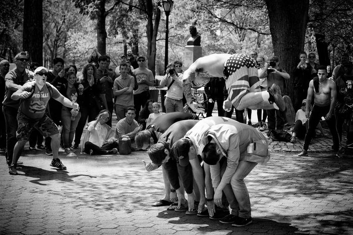 Jump! Black And White Black And White Portrait Blackandwhite Central Park CentralPark City Life Crowd New York Outdoors Streamzoofamily Street Entertainment Street Photography Street Portrait