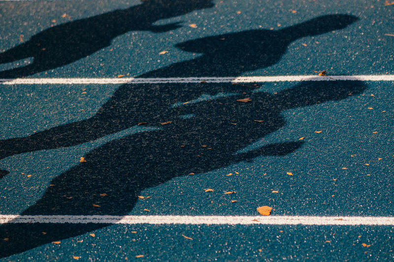 Close-Up Of Shadows On Ground