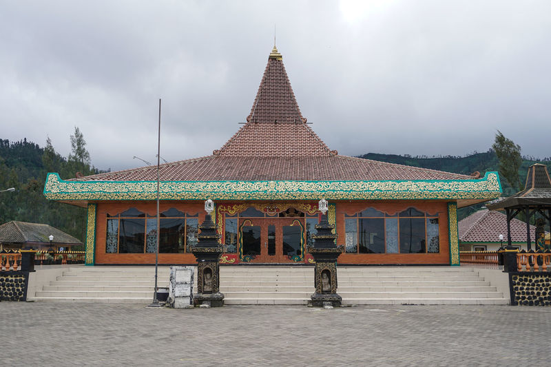 Hall Building, Mount Bromo. Built Structure Architecture Building Exterior Building Sky Religion Belief Place Of Worship Spirituality Cloud - Sky Day Nature Travel Destinations History Incidental People Outdoors The Past Spire  Bromo Bromo-tengger-semeru National Park Bromo Mountain Hill Mountain Java Cultures