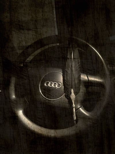 Car Filtered Image Ravenpen Ravenfeather Raven Audi Indoors  Metal Close-up No People Old Still Life Safety Handle Single Object Shape