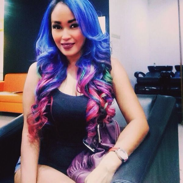 Hair Hairstyle Haircolor Colorful Coloroftheyear Haircolor2017 Indonesiangirl Hairdresser Salon
