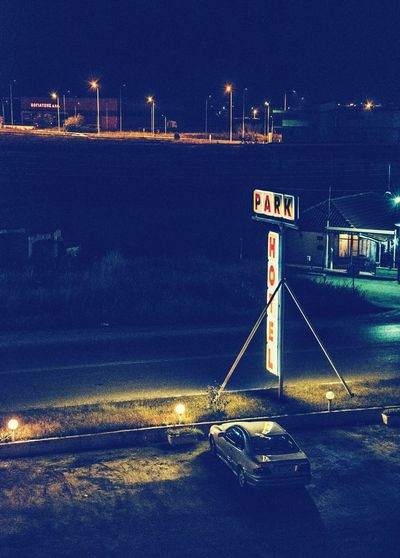Motel. Night No People Outdoors Motel travel Greece transportation Car