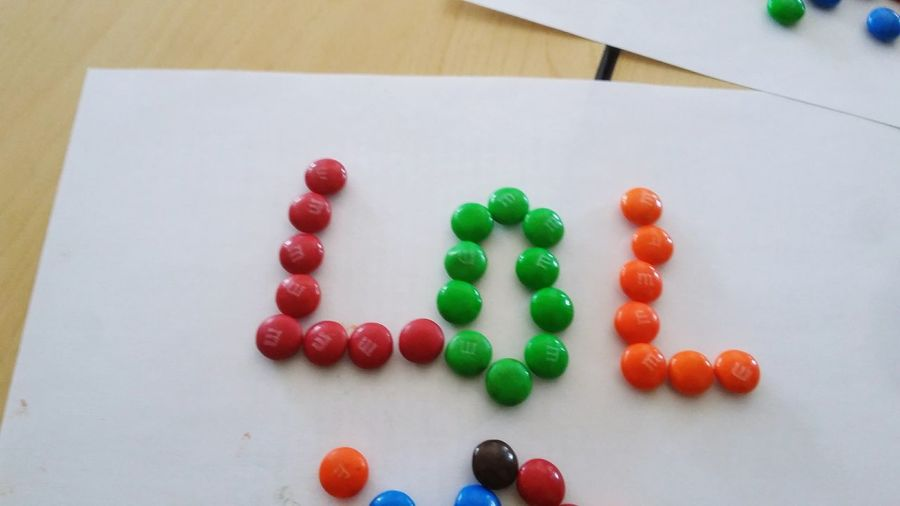 Sweet Text M&m's Candy LOL Bored Photography