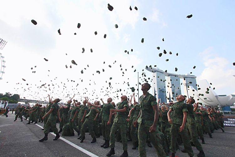 Beautifully Organized Military Singapore National Service Conscription Passingoutparade Graduation