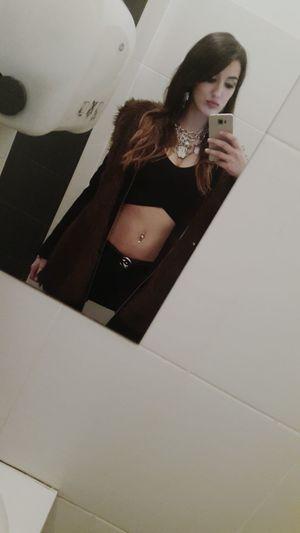 Cold Selfie Bathroomselfie Brunete Fur Furilicious CropTop Helloworld Taking Photos Hellokitty Jewlery