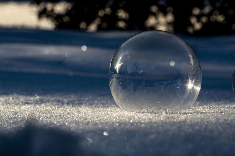 Close-up of bubbles in ball