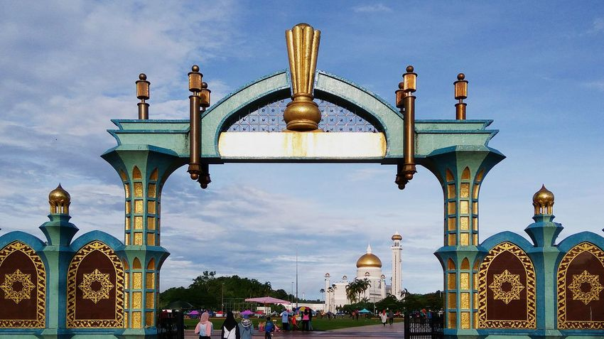 Bandar Seri Begawan- Brunei Darussalam (Aug, 2017) Arch Architecture Sky