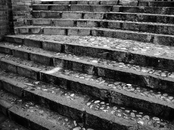 Stripes Absence Architecture Backgrounds Black And White Blackandwhite Brick Brick Wall Built Structure Close-up Day Full Frame Monochrome Moving Up No People Outdoors Pattern Staircase Steps And Staircases Stone Stairs Textured  Wall Wall - Building Feature