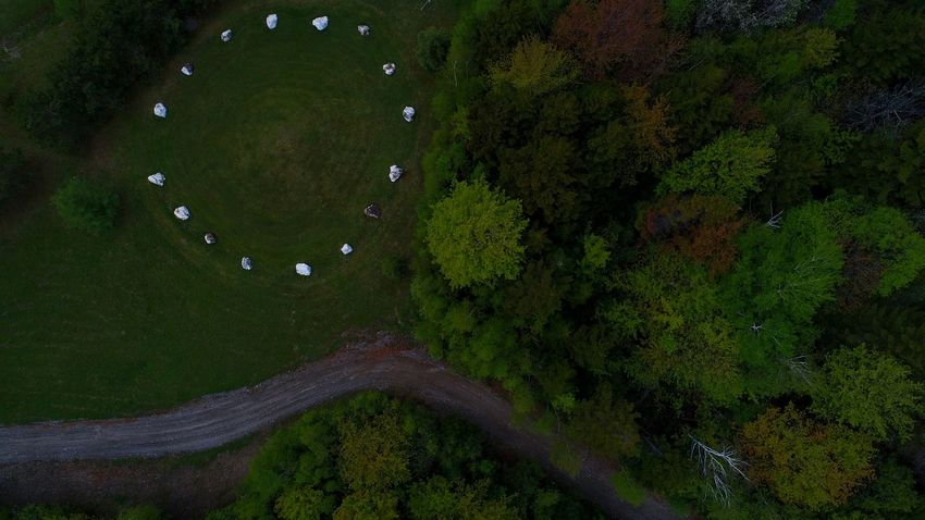 Beauty In Nature Outdoors Crystal Quartz Circle Ritual Spirituality Flying High Dronephotography No People Nature Tree Tranquility Scenics Travel Destinations