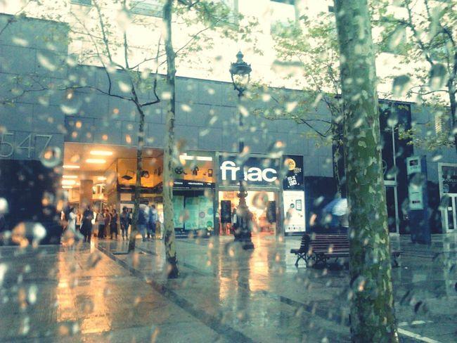Rainy saturday City Life As The Rain Falls City