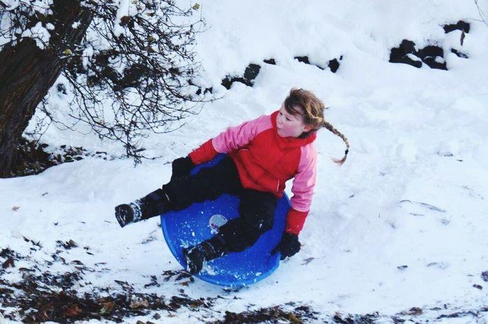Cold Temperature Snow Winter Kids Sledding Weekend Adventures EyeEmNewHere