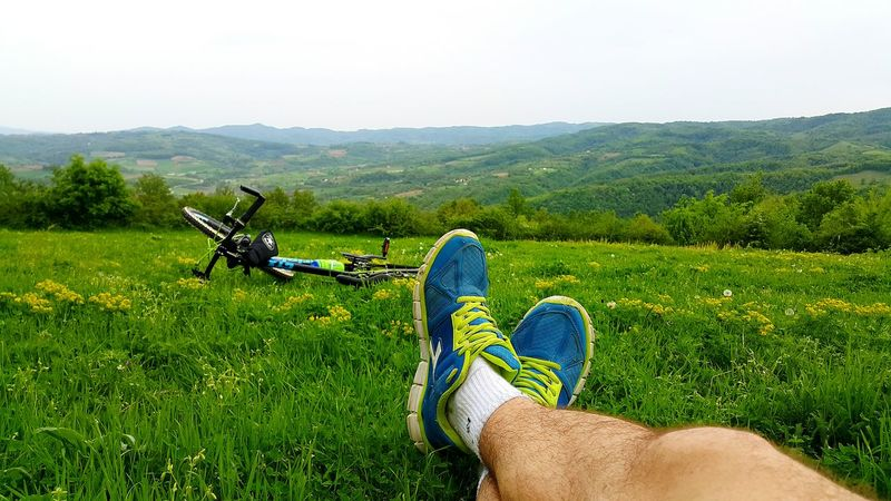 Mountain Grass Panorama Green Cycling Hello World Becycle Relaxing Nature