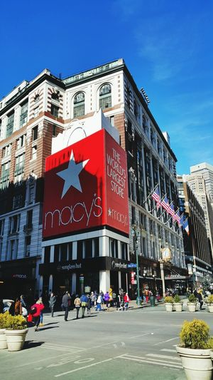Macy's . The World's Largest Store The Best Of New York Streetphotography Macy United States.