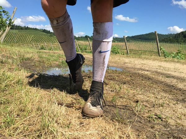 Fussball Weinberg Day Field Lifestyles Low Section Men Nature Nike One Person Outdoors People Real People Sky Soccer Socken Sommer Spring Standing Stützen Sun Tubesocks