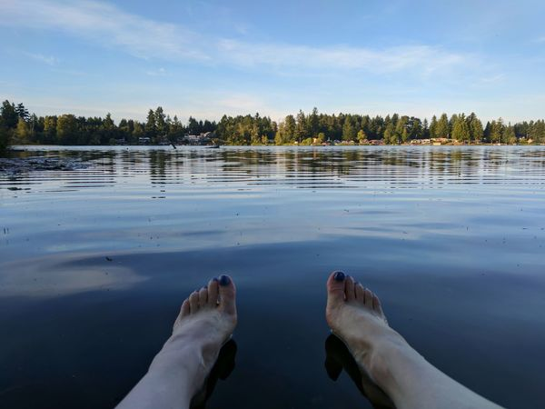Reflection Water Lake Outdoors Sky Day Cloud - Sky Beach Nature Family Time PNW At Its Finest Having Fun Perfect Day Put Your Feet In The Water Splish Splash One Person Human Body Part Feet In Water The Week On EyeEm Summer Day Low Section Scenic View Lost In The Landscape