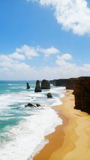 Greatoceanroad Victoria Australia Sea Beach Blue Horizon Over Water Landscape Tranquility Travel Destinations Nature Beauty In Nature Travel Australie