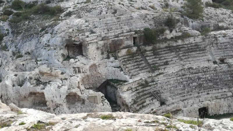 https://en.m.wikipedia.org/wiki/Roman_Amphitheatre_of_Cagliari City Sardinia Sardegna Italy  Anphitheater Old Ancient History Ancient Nature Rock - Object Day Beauty In Nature No People Outdoors Tranquility Tree Scenics Rock Formation Built Structure Architecture Rock Face