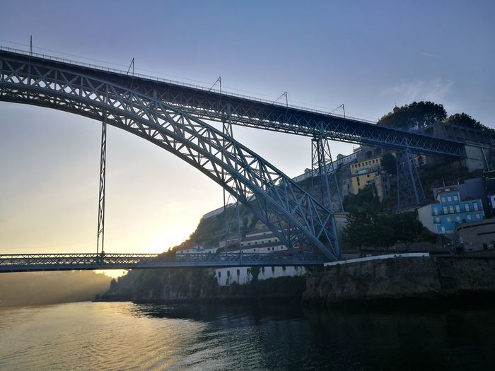 Rio Douro Rio Douro Portugal Douro  Douro River Portugal Douroriver Ponte Dom Luis D Luís I Water Industry Sea Steel Metal Industry Bridge - Man Made Structure Sunset Beach Arch Bridge Arch Bridge Railway Bridge Historic