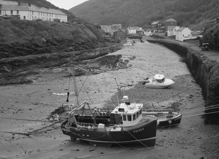 Boat Cornwall Uk Day Mode Of Transport Moored Nautical Vessel No People Outdoors Sky Transportation Travel Destinations Water