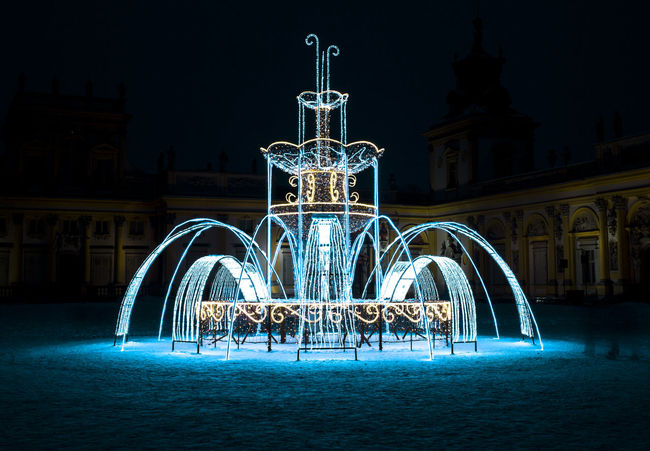 Wilanowie Palace Light Fountain Spectacular Light Show King Poland Wilanów Jan Sobieski