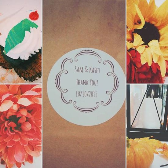 Everything was so cute and fall and rustic. Feels Kaseyandsam Weddingbells Bridesmaid