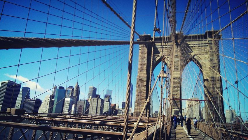 My favourite place in NYC Brooklyn Bridge / New York New York Manhattan Geometric Shapes Urban Geometry Geometric Lines Brooklyn Bridge  Bridge USA