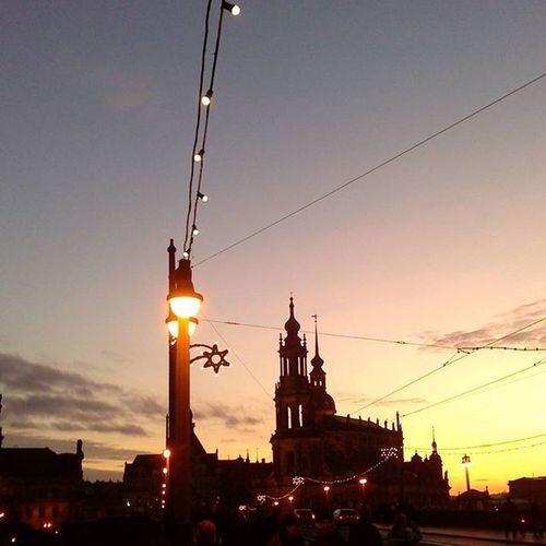 ...to sunset Outerworld Dresden Sunset Nofilter Touristmode