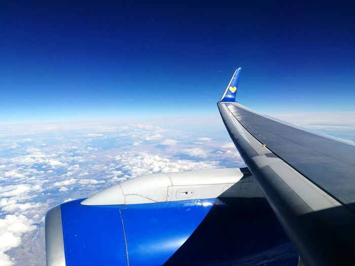 Airplane Aerial View Aircraft Wing Flying Journey Mid-air Transportation No People Blue Air Vehicle Day Sky Outdoors Airplane Wing Huwaei Photography HuaweiP9 Leicacamera Thomas Cook Thomas Cook Airlines Lets Go. Together.