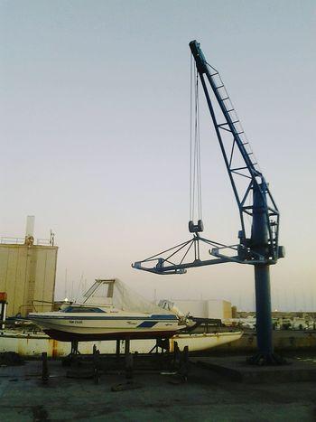 Grua Barcos Barco Puerto Almería Almerimar