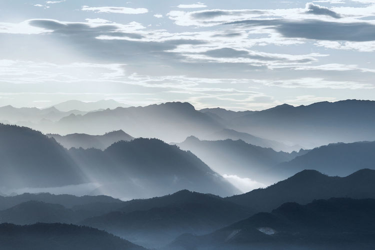 Dawn on the mountain Clouds And Sky Dawn Collection HeritageVillage Lanscape Photography Market Reviewers' Top Picks Mountains Vietnam Travel Vietnamphotography