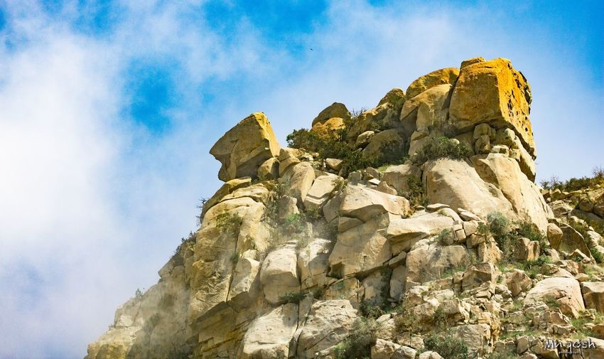Sky Low Angle View Rock Solid Nature Rock Formation Rock - Object